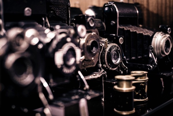 Photographer photography vintage black