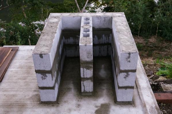 ピザ窯土台モルタル38
