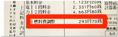 東京電力燃料費調整