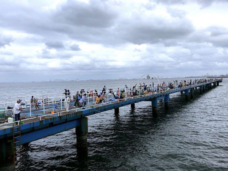 3連休の市原海釣り公園