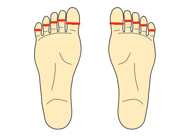 足の指グリグリ