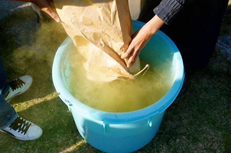 手作り醤油の仕込み14