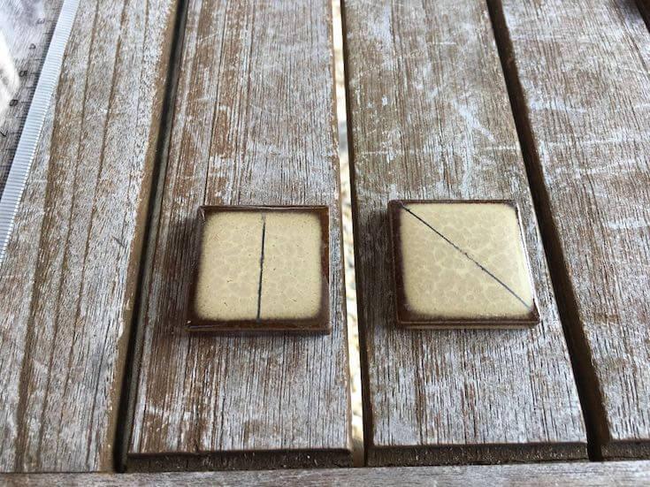 ピザ窯 外用タイルの貼り方