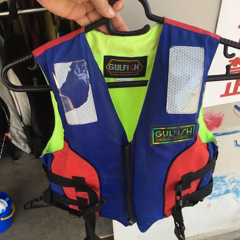 高滝湖子供用ライフジャケット