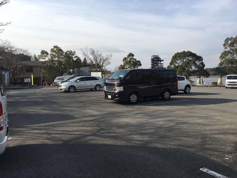 高滝湖の駐車場