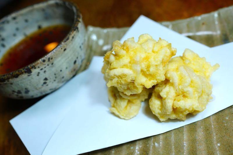 白子の天ぷら 作り方1