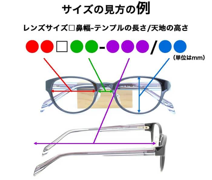 サプリメガネのサイズ