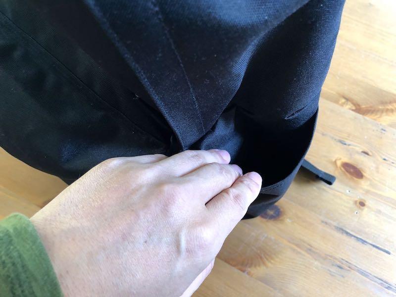 無印良品肩の負担を軽減するPCポケット付きリュックサック3