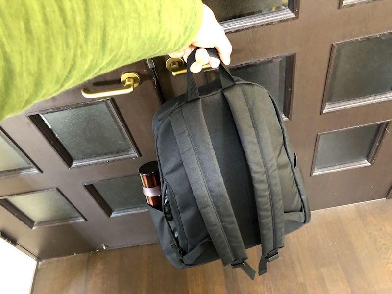 無印良品肩の負担を軽減するPCポケット付きリュックサック12