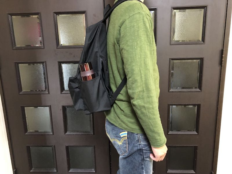 無印良品肩の負担を軽減するPCポケット付きリュックサック14