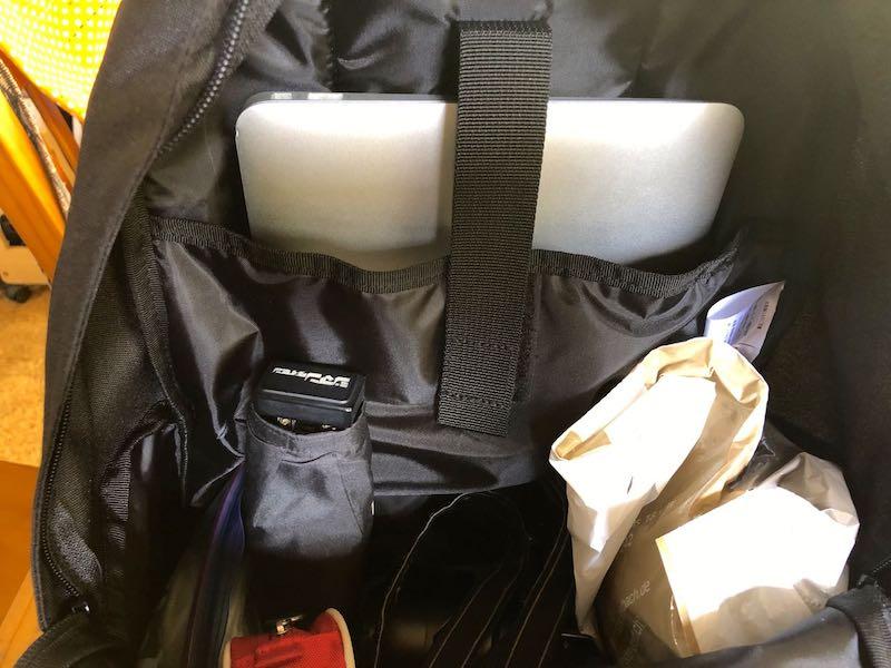 無印良品肩の負担を軽減するPCポケット付きリュックサック8