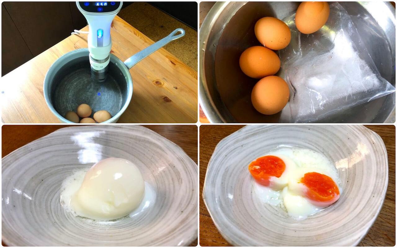 低温調理器BONIQボニークで温度卵