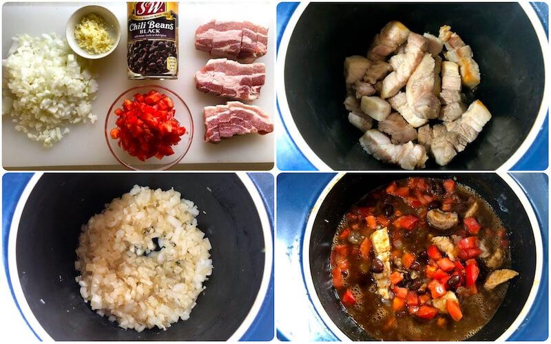 豚バラとブラックビーンズの軽い煮込みスープの作り方