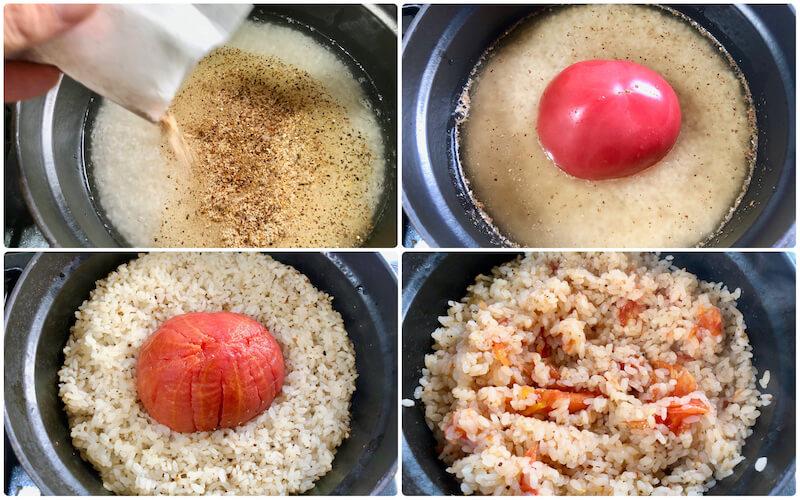 ふりだしトマトご飯の作り方