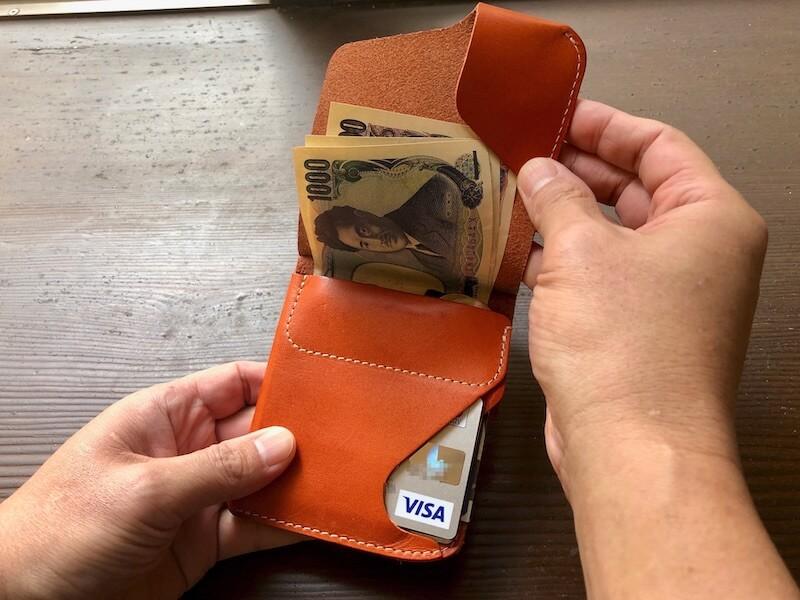 薄くて大容量の二つ折り財布HUKUROのJITAN22