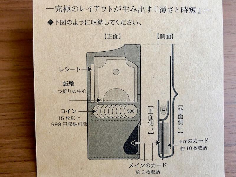 薄くて大容量の二つ折り財布HUKUROのJITAN8