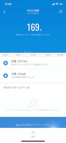 Mi Band 5 歩数計