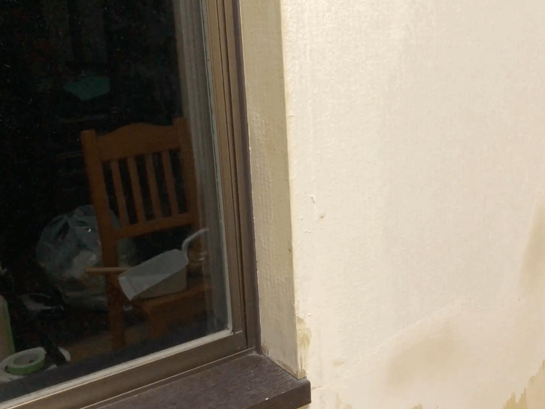 窓枠養生パテ塗り3