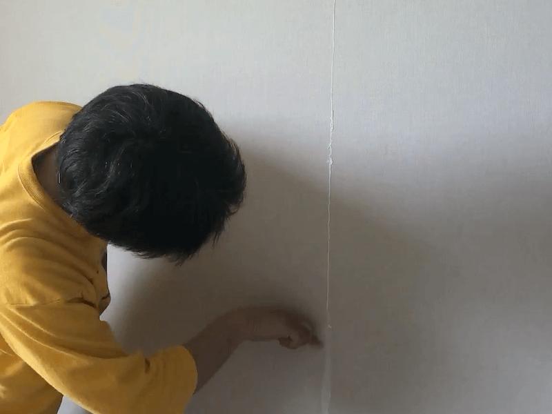 壁紙の継ぎ目の補修9