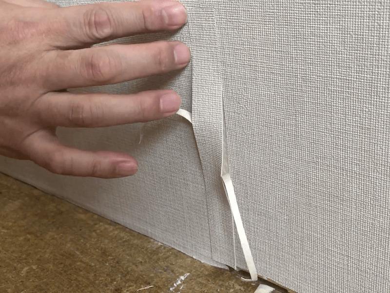 壁紙の破れの補修9