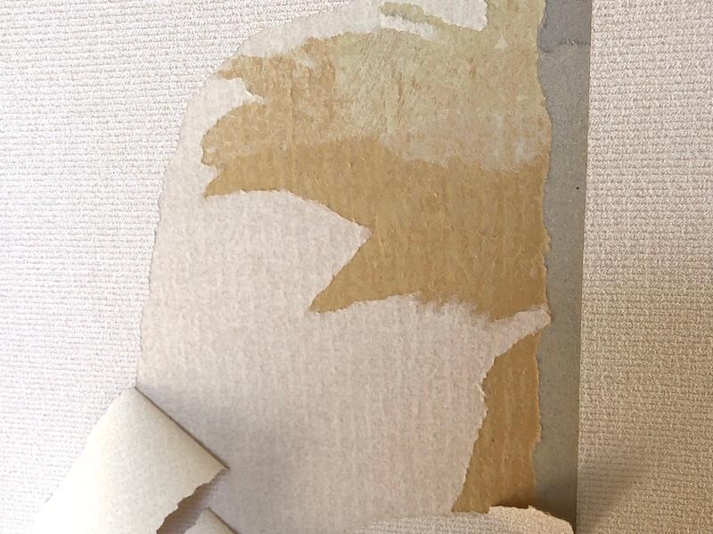 壁紙をどこまではがすか