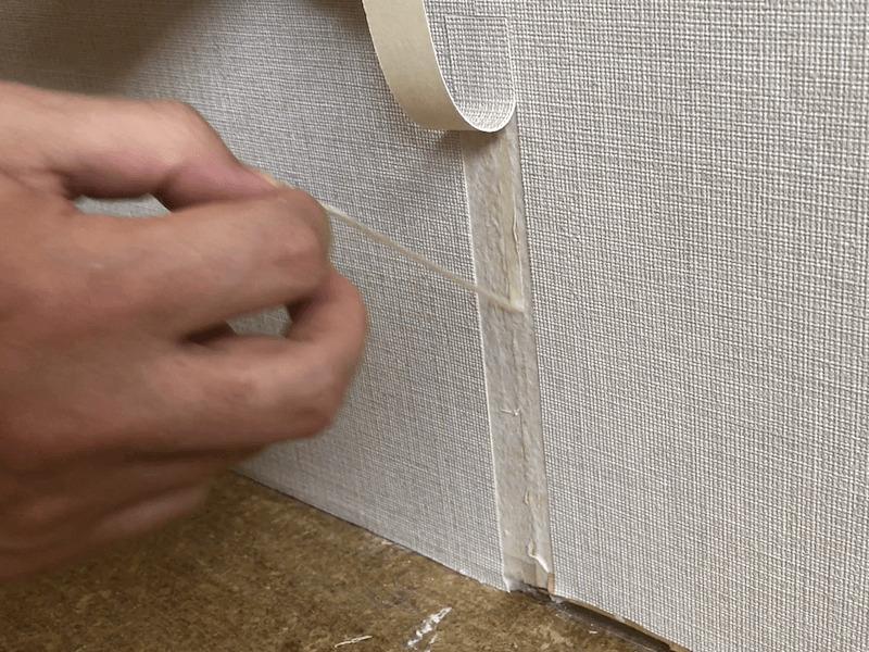 壁紙の破れの補修10
