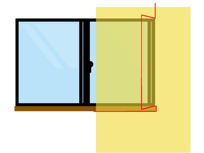 窓枠壁紙カット
